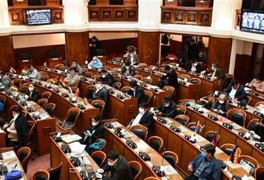 Una sesión de la Cámara de Diputados.