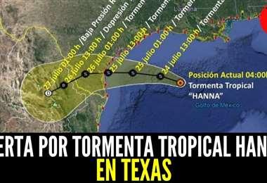 La trayectoria del huracán. Foto Internet