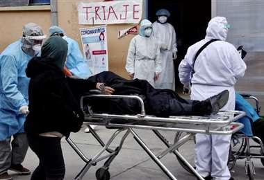 La pandemia afecta a todo el país.  Foto AFP