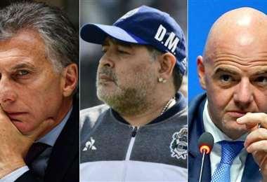 Maradona apuntó contra el presidente de FIFA y el ex presidente de Argentina. Foto: Diario Marca