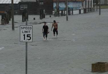 El huracán se degradó a su paso por Texas. Foto Internet
