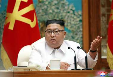 Kim presidió  la reunión de emergencia. Foto AFP