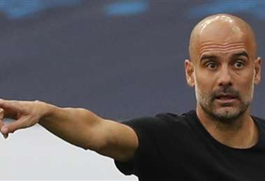 Pep Guardiola, DT del Manchester City . Foto: AFP