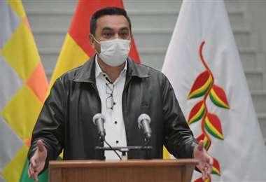 El ministro Yerko Núñez denunció en la jornada que a la bancada del MAS no le interesa ni la salud ni la economía /Foto: ABI