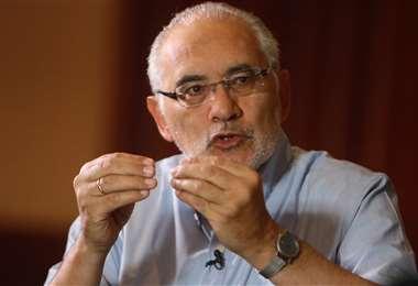 El candidato por CC, Carlos Mesa. Archivo