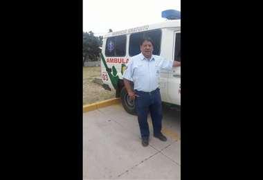 El conductor estuvo intubado por 15 días