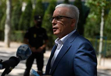 Garzón al salir de la Audiencia Nacional. Foto AFP