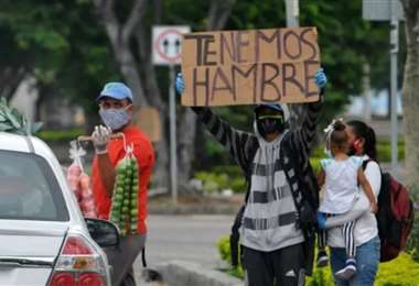 La pandemia causa más pobreza en la región. Foto AFP