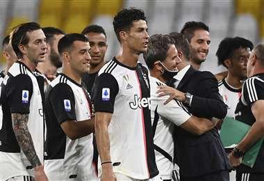 La Juventus celebró este domingo su noveno Scudetto consecutivo. Foto: AFP