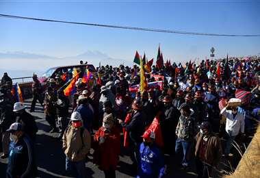 Nuevas movilizaciones se concentrarán en La Paz.  Foto: APGNoticias