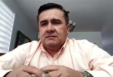 Robert Blanco dirigente de la FBF. Foto: Captura video