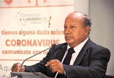 Virgilio Prieto habla de falencias. Foto: Ministerio de Salud