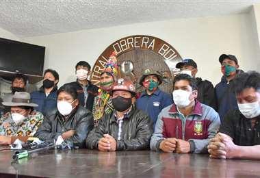 Desde la COB también exigen nuevos protocolos para enfrentar la pandemia. Foto: Opinión