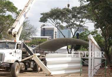 Cuando inició la construcción (Foto: Fuad Landívar)