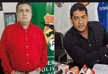 Robert Blanco y Marco Rodríguez, directivos de la FBF. Foto: internet