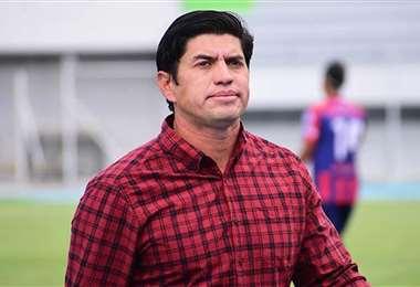 Humberto Viviani, DT de Municipal de Vinto. Foto: Los Tiempos