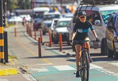 la bici se impone como medio de transporte. Foto: R.Montero