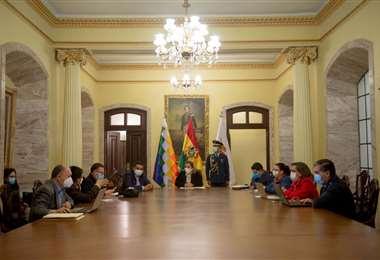 La Presidenta volvió al trabajo en Palacio de Gobierno.