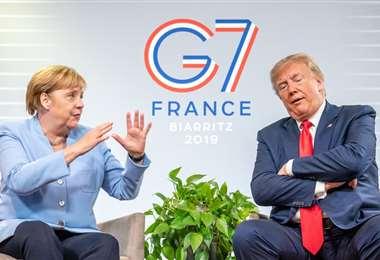 Por tercer año Merkel le gana a Trump. Foto La Nación