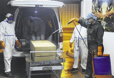 El departamento de Santa Cruz es uno de los más afectados por la pandemia en Bolivia. Foto. AFP