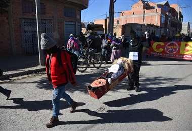 Partió la marcha desde El Alto. Foto: APG Noticias