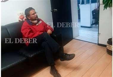 Rada detenido en el Ministerio Público de México. Foto Exclusivo para EL DEBER