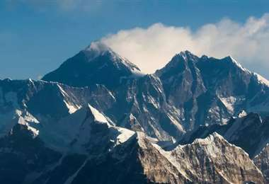 Vista general del Everest. Foto AFP