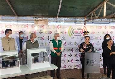Este viernes, la presidenta Añez hizo la entrega de los aeroboxes a la Gobernación