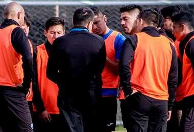 Los jugadores de la academia inician su trabajo presencial este viernes . Foto: Club Bolívar