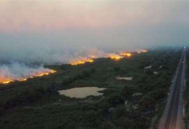 Imagen de archivo de incendios en el Pantanal. Foto Internet