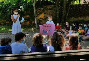 Imagen referencial de un campamento de niños. Foto Internet