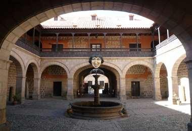 Patio principal de la Casa Nacional de Moneda de Potosí