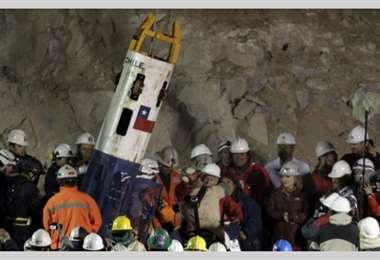 El rescate de los mineros. Foto Internet