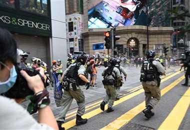 La policía arremete contra manifestantes a principios de mes. Foto Internet