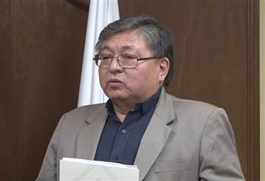 El asesor del ministerio de Salud, René Sahonero.