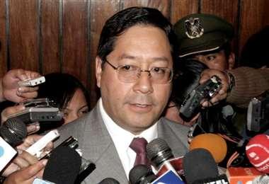 Luis Arce, cuando era ministro de Economía.