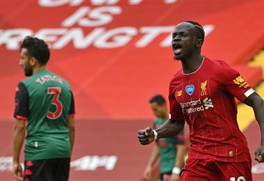 Mané abrió el camino del triunfo para el Liverpool