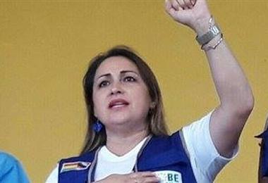 Mayerling Castedo, excandidata a magistrada por el MAS y exfiscal en el departamento de Beni. Foto. Internet