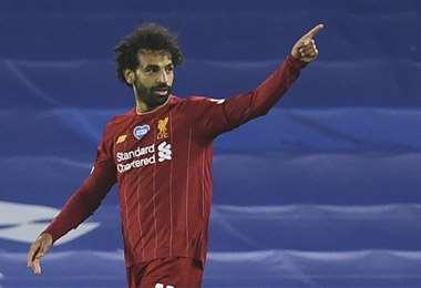 Salah marcó en dos oportunidades este miércoles. Foto: AFP