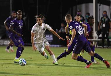 Incidencia del partido que jugaron el miércoles entre el Inter de Miami y Orlando City por el torneo de la MLS. Foto: AFP