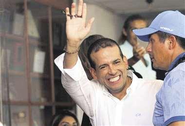 El candidato por Creemos, Luis Fernando Camacho.