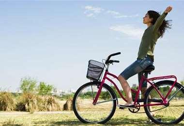 Beneficios de andar en bicicleta. Foto: Internet