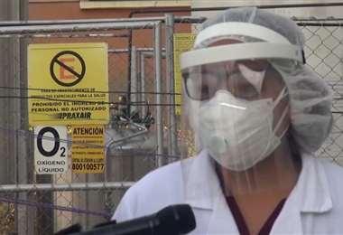 La directora del Hospital La Portada, Liliana Gonzales. GAMLP