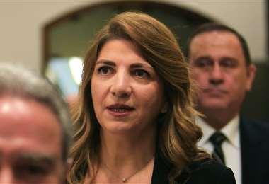 La renunciante ministra de Justicia. Foto AFP