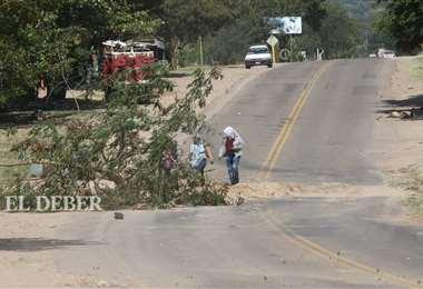 En Tiquipaya (zona Jorochito) la vía está expedito. Fotos: Hernán Virgo