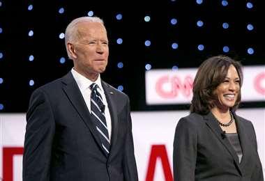 Biden y la senadora Kamala Harris. Foto Internet