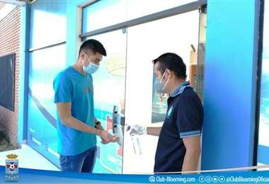 El plantel fue citado la semana pasada en la sede para las pruebas sanitarias. Foto: AFP
