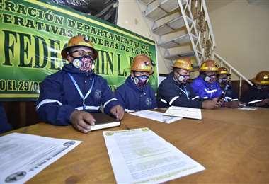 Mineros de La Paz advierten al Gobierno Foto: Daniel Miranda APGNoticias