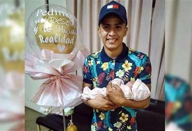 Hugo Rojas disfrutando de su pequeña Olivia. Foto: Gentileza Hugo Rojas