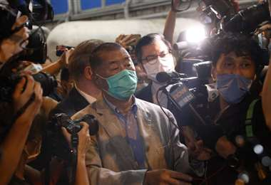 Jimmy Lai, un día después de ser liberado. Foto Internet